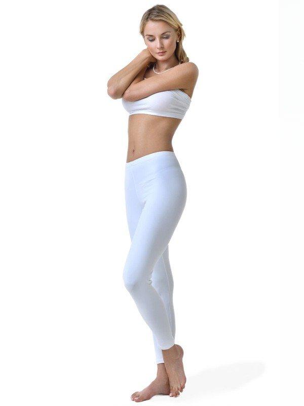 long white-leggings
