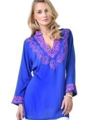 barbara gerwit royal hot pink cotton tunic
