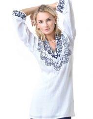 barbara gerwit resortwear white cotton tunic