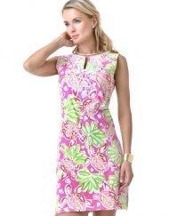barbara gerwit vintage printed dress