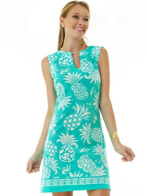coordinate knit dress seafoam