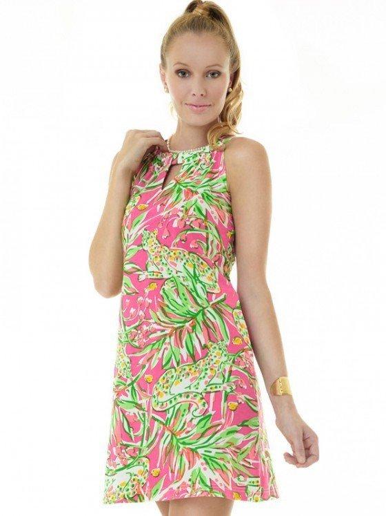 Vintage Knit Dress Sleeveless Halter Neck Style 146C19 PL