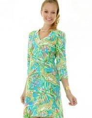 220c19 vintage knit dress seafoam yellow