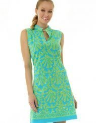 275c11 coordinate knit dress turq lime