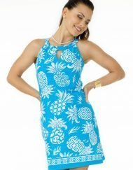 coordinate knit pineapple dress light blue 172c12