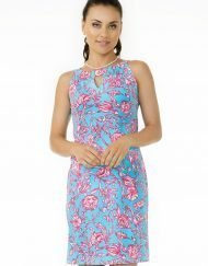 nylon spandex dress seafoam hot pink 146c23