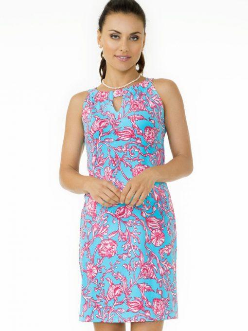 nylon spandex dress seafoam hot pink 146c23