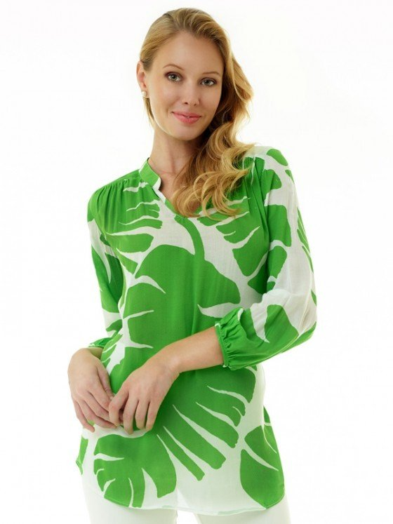 201c08 artisan silky cotton tunic pb green