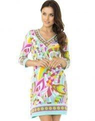pink gold coordinate knit dress style 173b94