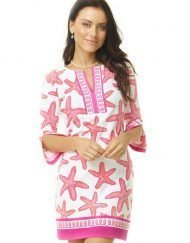 580c34 artisan print knit dress pink