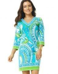 220c29 engineered knit dress green turq
