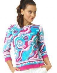 670c26 engineered knit top pink turq
