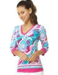 920c26 engineered knit top pink turq