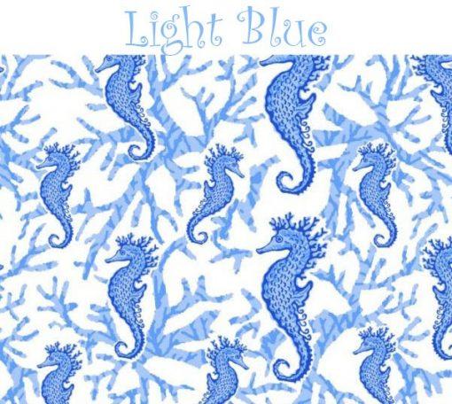 oceanica print light blue