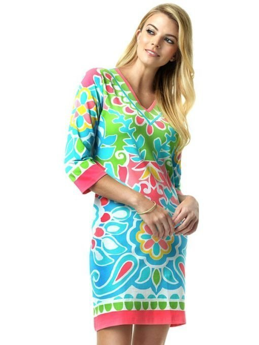220C59 Engineered Knit Dresses Pink-Multi