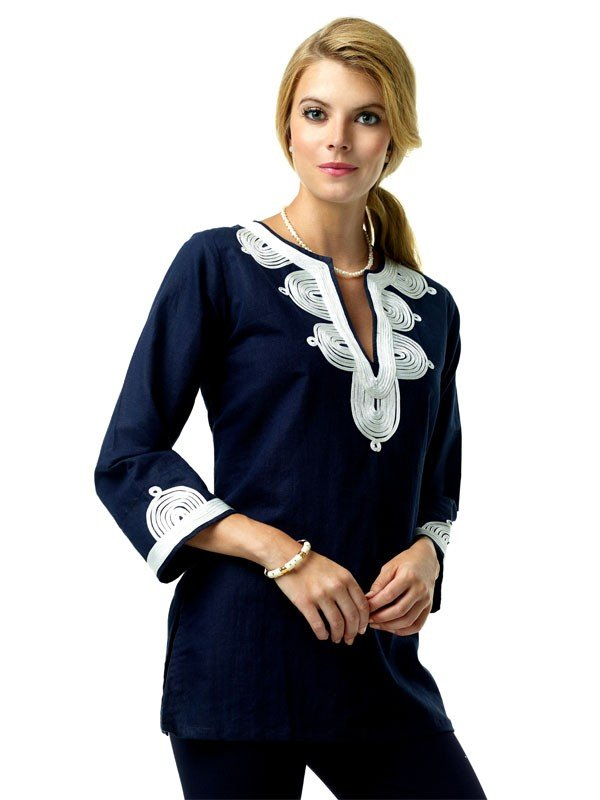 Linen EMB Tunic Style 520R33 NW