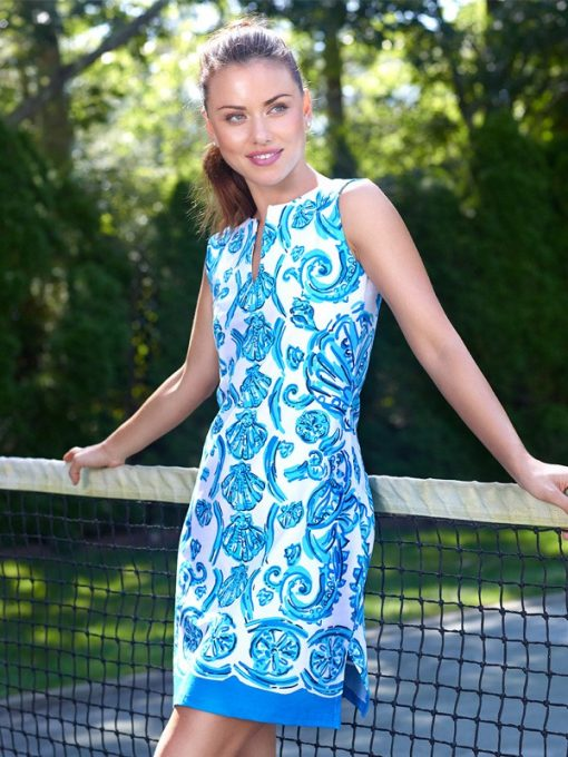610C61 Engineered Knit Dresses Blue-Tonal