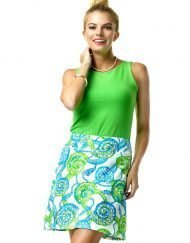 277C53 Vintage French Terry Skort Blue-Lime 99357