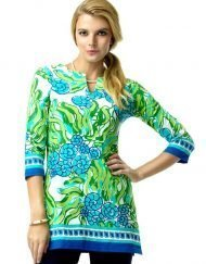 380C46 Artisan Knit Tunic Royal-Lime 99216