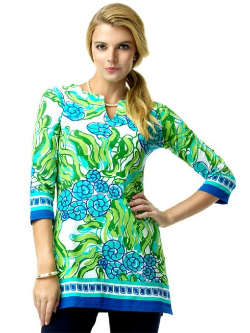 380C46 Artisan Knit Tunic Royal-Lime 99216