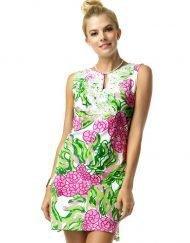 610C46 Artisan Knit Dress Pink-Lime 99861