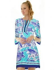 10 - Artisan Knit Dress Slit Neck Style 580C50 Peri