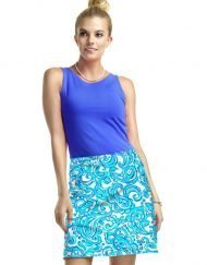277C55 Vintage French Terry Skort Blue
