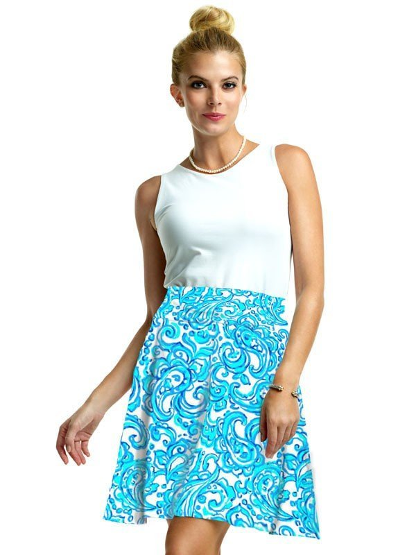 303C55 Vintage French Terry Skirt Blue