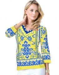 Engineered Knit Top Style 920A79 Royal Gold