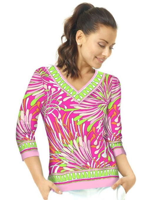 Engineered Knit Top Style 920B11 - Pink_Lime