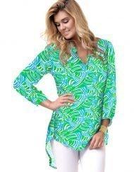 Coordinate Rayon Tunic Style 201B54 Green Turq