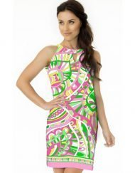 Engineered Knit Dress Style 146B83 - Pink_Medium Pink_Multi