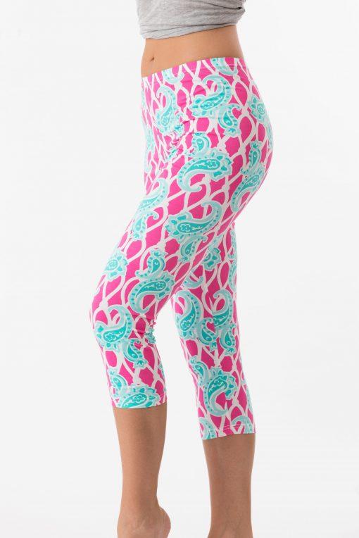 Vintage Knit Capri Style 308D10 Pink Turq