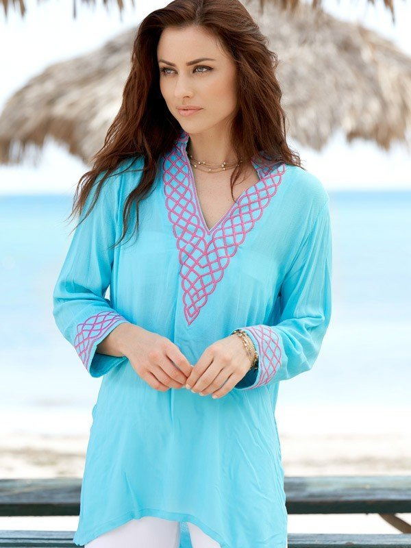 280r60-embroidered-jacquard-silky-cotton-tunic-seafoam-hot-pink
