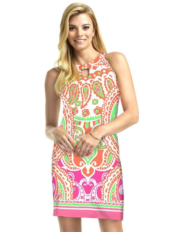146D03 - Julietta - Hot Pink Green Multi