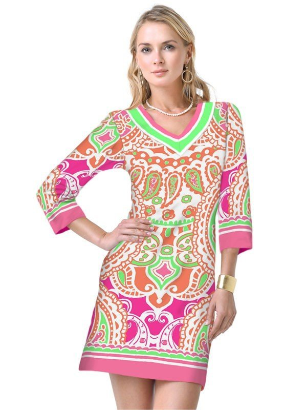 220D03 Hot Pink_Green_Multi