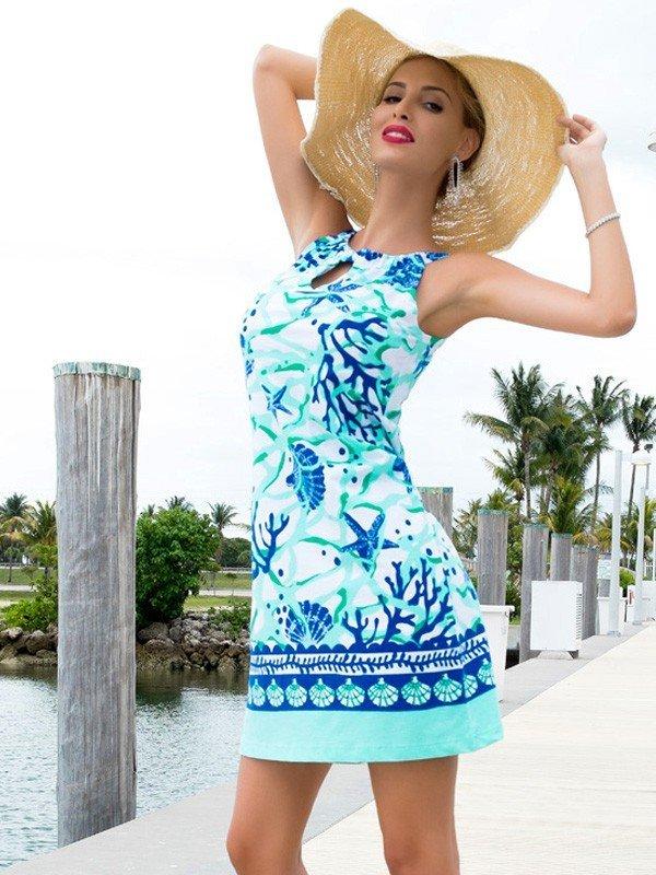 Engineered Knit Dress Sleeveless Halter Neck Style 146B09 SR