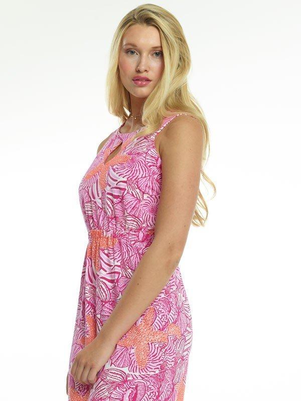 426d54-vintage-cotton-knit-dress-hot-pink-orange-b