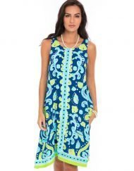 525d92-printed-silky-rayon-dress-royal-lime
