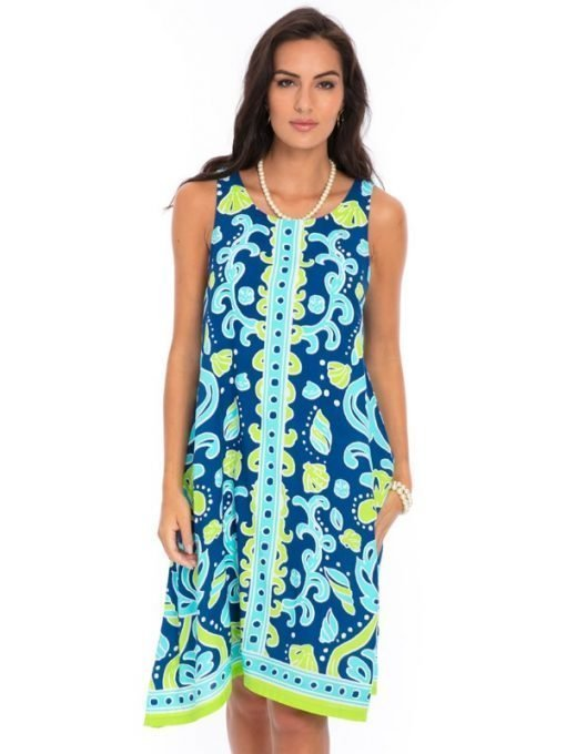 525d92-printed-silky-rayon-dress-royal-lime