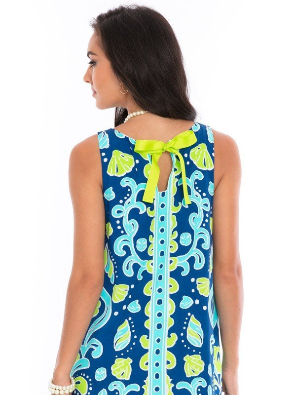 525d92-printed-silky-rayon-dress-royal-lime-back