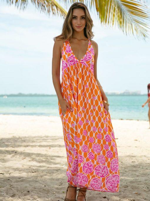 473d96-silky-rayon-dress-orange-pink