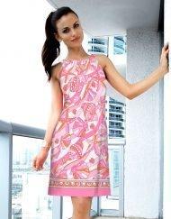02 - Engineered Cotton Knit Dress Halter Neck Style 146C79 Pink Orange copy