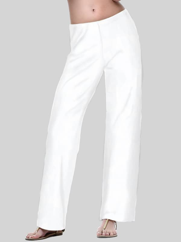 Solid Knit Palazzo Pants Style 105Q07 W