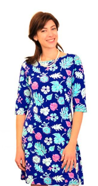 Fun printed dress with floral designs