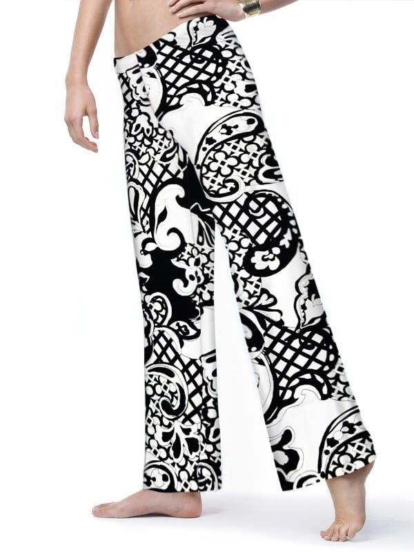 A pair of black and white printed palazzo pants from BarbaraGerwit